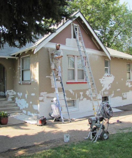 Preparing a House For Repainting